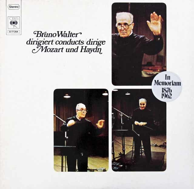 ワルターのモーツァルト/「アイネ・クライネ・ナハトムジーク」ほか 独CBS 3204 LP レコード 2LP