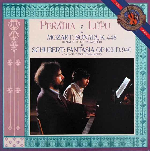 ペライア&ルプーのモーツァルト/2台のピアノのためのソナタ 蘭CBS 3204 LP レコード