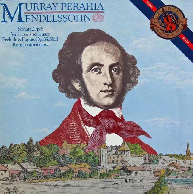 ペライアのメンデルスゾーン/ピアノソナタ第1番ほか   蘭CBS   3204 LP レコード