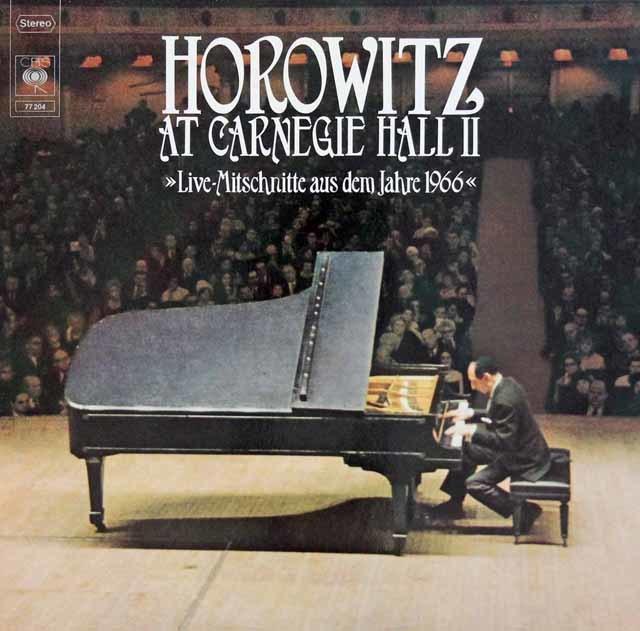 ホロヴィッツの「カーネギー・ホール・リサイタル1966」 独CBS 3204 LP レコード
