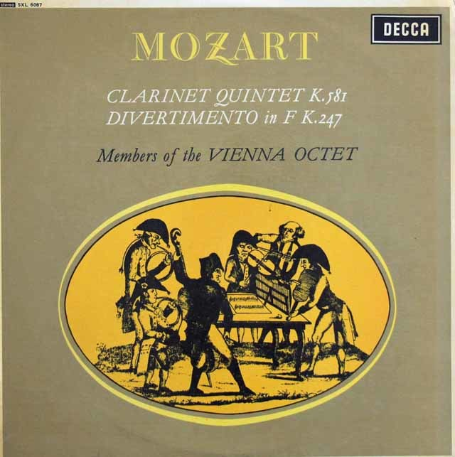 【オリジナル盤】 ウィーン八重奏団のモーツァルト/ディヴェルティメント 第10番他 英DECCA 3204 LP レコード
