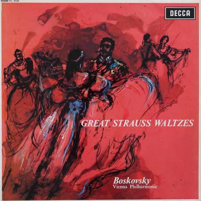 【オリジナル盤(1E/1E)】 ボスコフスキーのシュトラウス/ワルツ集 英DECCA 3204 LP レコード