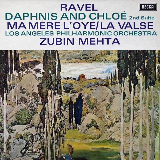 【オリジナル盤】 メータのラヴェル/「ダフニスとクロエ」第2組曲ほか 英DECCA 3204 LP レコード