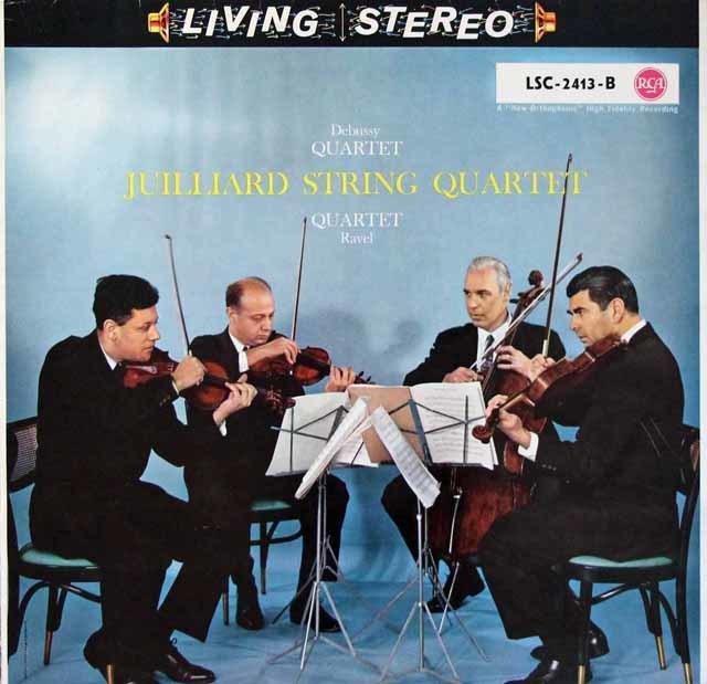 ジュリアード四重奏団のドビュッシー&ラヴェル/弦楽四重奏曲集 独RCA 3204 LP レコード