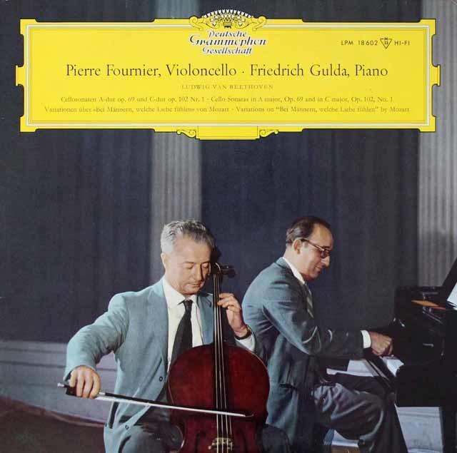 フルニエ&グルダのベートーヴェン/チェロソナタ第5番ほか 独DGG 3204 LP レコード