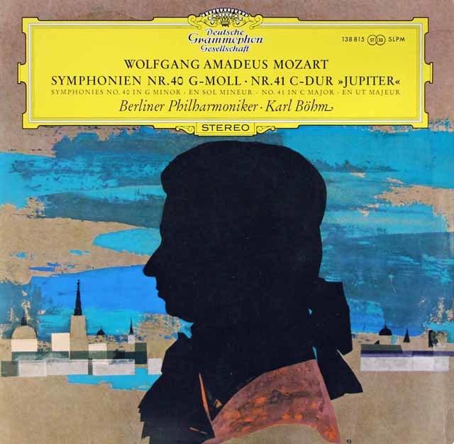 【独最初期盤】 ベームのモーツァルト/交響曲第40番、41番「ジュピター」  独DGG 3204 LP レコード