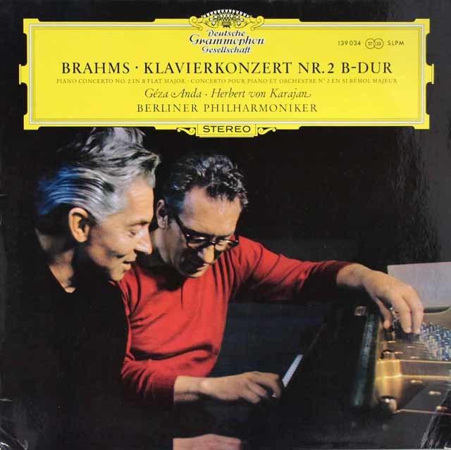 アンダ&カラヤンのブラームス/ピアノ協奏曲第2番 独DGG 3204 LP レコード