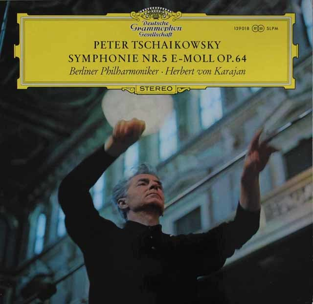 カラヤンのチャイコフスキー/交響曲第5番  独DGG 3204 LP レコード
