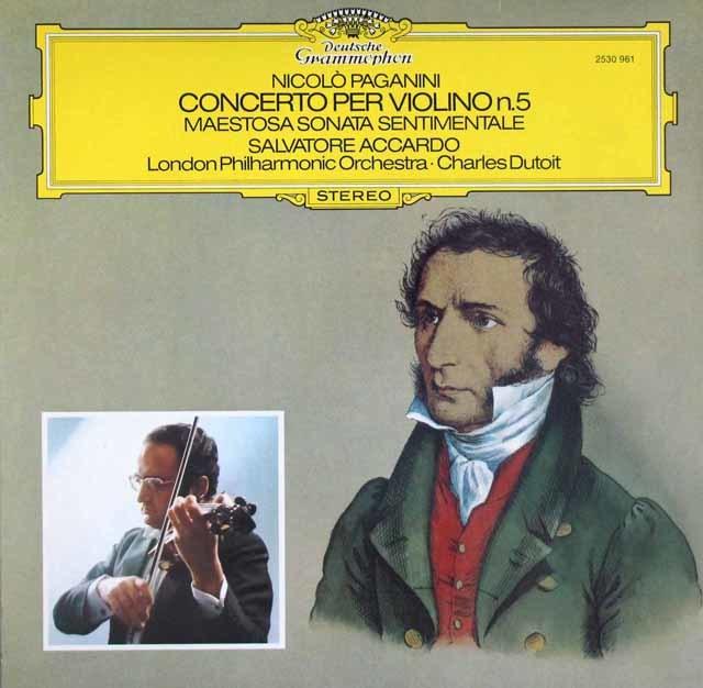 アッカルド&デュトワのパガニーニ/ヴァイオリン協奏曲第5番ほか 3204 LP レコード