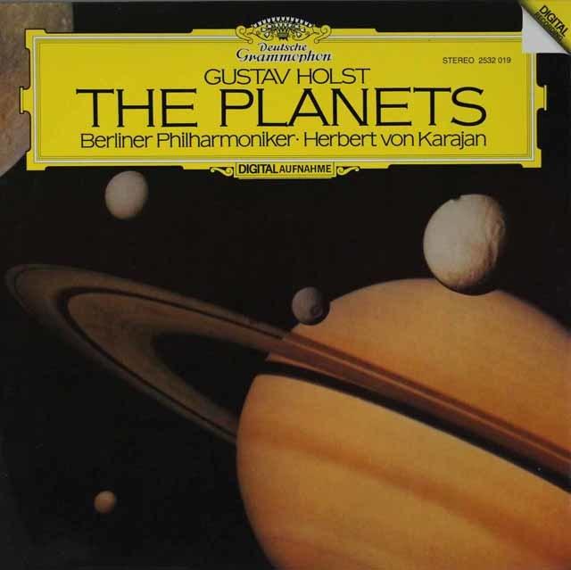 カラヤンのホルスト/組曲「惑星」 独DGG 3204 LP レコード