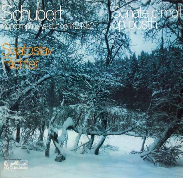 リヒテルのシューベルト/ピアノソナタ第19番ほか 独eurodisc 3204 LP レコード