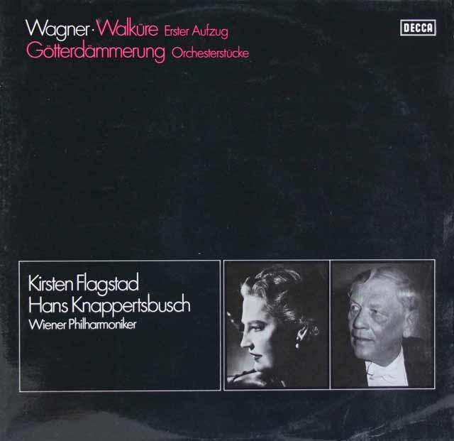 フラグスタート&クナッパーツブッシュのワーグナー/「ワルキューレ」第1幕ほか 独DECCA 3204 LP レコード 2LP