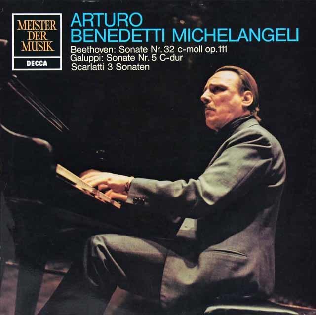 ミケランジェリのベートーヴェン/ピアノソナタ第32番ほか    独DECCA 3204 LP レコード