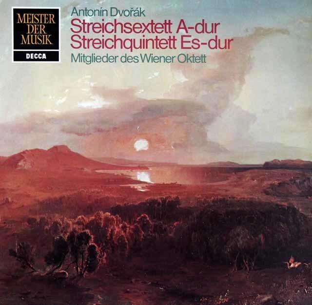 ウィーン・オクテットのメンバーによるドヴォルザーク/弦楽六重奏曲イ長調ほか 独DECCA 3204 LP レコード
