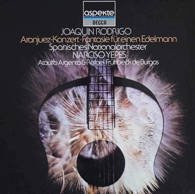 イエペス&アルヘンタのロドリーゴ/アランフェス協奏曲ほか 独DECCA 3204 LP レコード