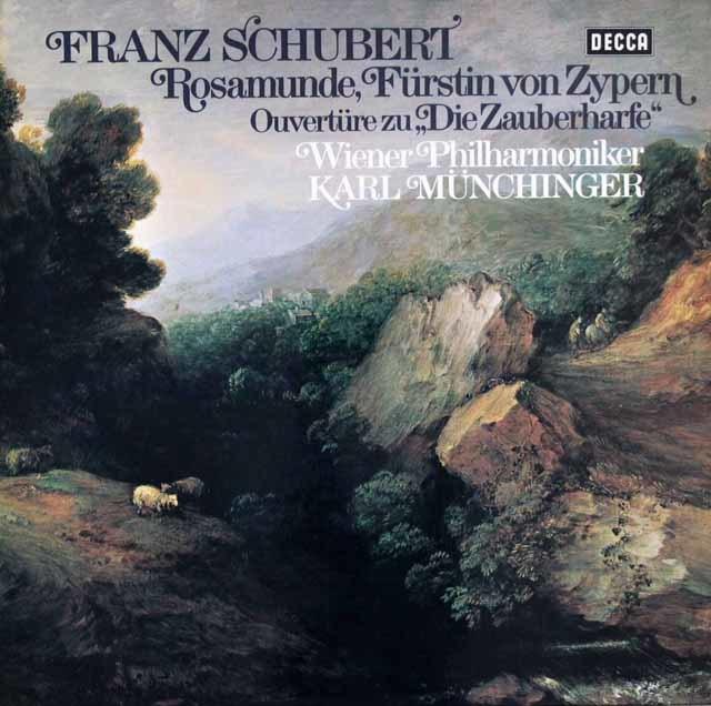 ミュンヒンガーのシューベルト/「ロザムンデ」全曲  独DECCA 3204 LP レコード