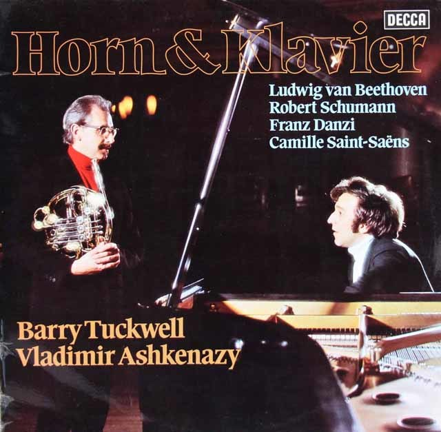 アシュケナージ&タックウェルのベートーヴェン/ピアノとホルンのためのソナタほか 独DECCA 3204 LP レコード