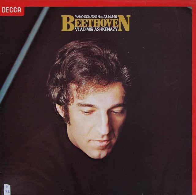 アシュケナージのベートーヴェン/ピアノソナタ第13、14&16番 蘭DECCA 3204 LP レコード