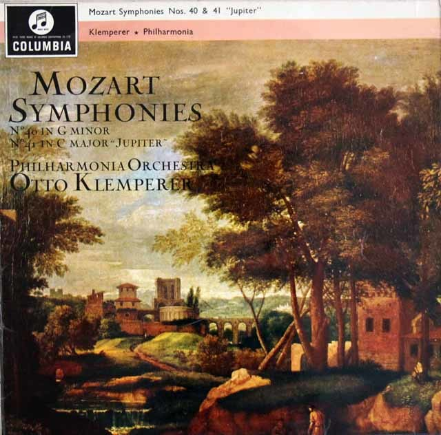 クレンペラーのモーツァルト/交響曲第40&41番「ジュピター」 英Columbia 3204 LP レコード