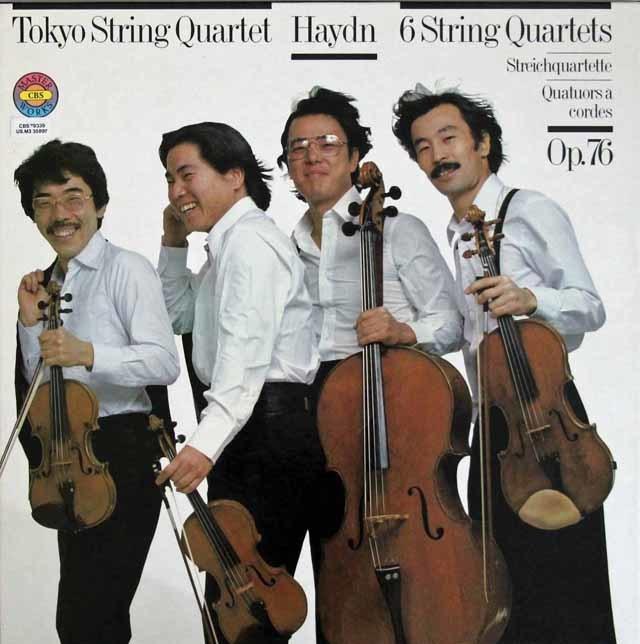 東京クヮルテットのハイドン/弦楽四重奏曲「エルディーティ」 作品76(全曲) 独CBS 3204 LP レコード