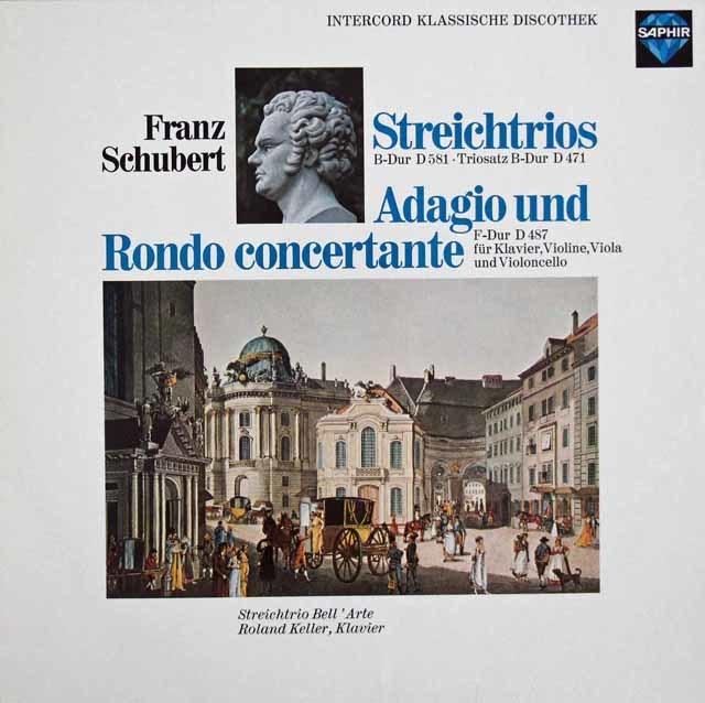 ラウテンバッハーらベルアルテ・トリオのシューベルト/弦楽三重奏曲第1&2番ほか 独SAPHIR 3205 LP レコード
