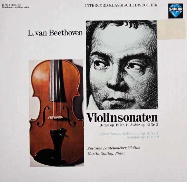ラウテンバッハーのベートーヴェン/ヴァイオリンソナタ第1&2番 独SAPHIR 3205 LP レコード