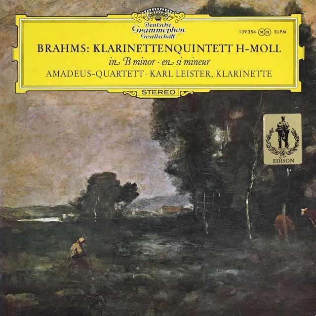 アマデウス四重奏団&ライスターのブラームス/クラリネット五重奏曲 独DGG 3205P レコード