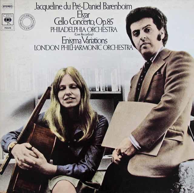デュ・プレ&バレンボイムのエルガー/チェロ協奏曲ほか 独CBS 3205 LP レコード