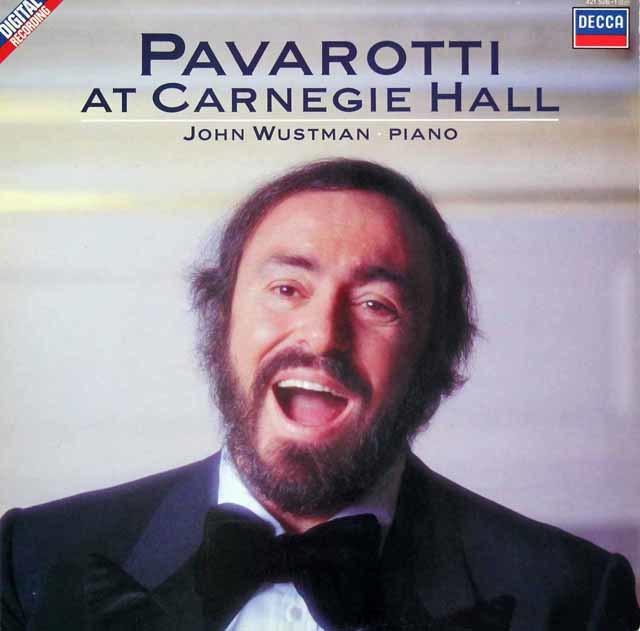 パヴァロッティ・アット・カーネギー・ホール 蘭DECCA 3205 LP レコード