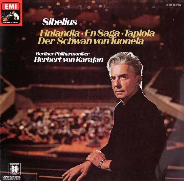 カラヤンのシベリウス/管弦楽曲集 独EMI 3205 LP レコード