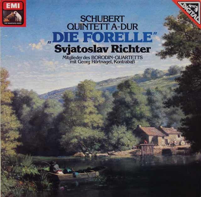 リヒテル&ボロディン四重奏団のシューベルト/「ます」 独EMI 3205 LP レコード