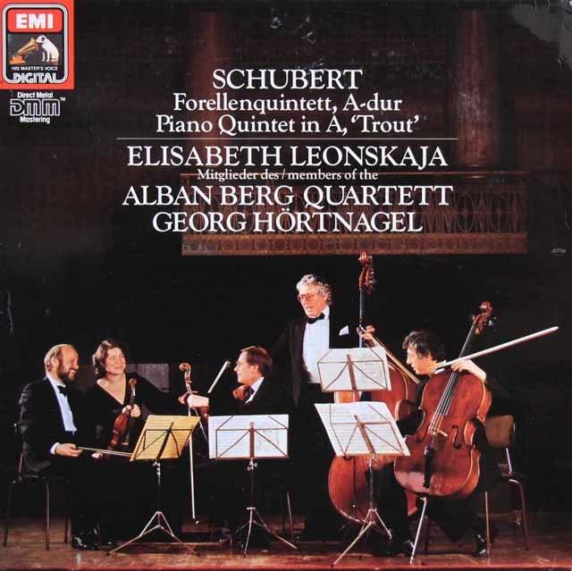 レオンスカヤ&アルバン・ベルク四重奏団のシューベルト/ピアノ五重奏曲「ます」 独EMI 3205 LP レコード