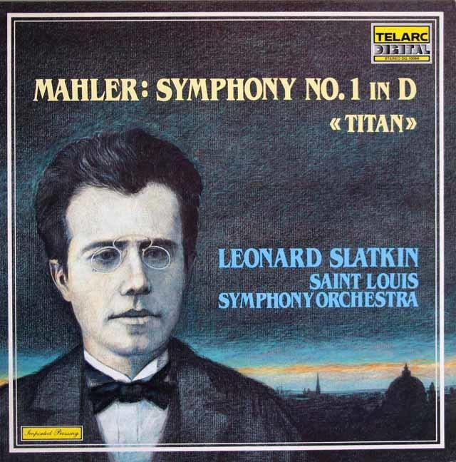 スラットキンのマーラー/交響曲第1番「巨人」 独TELARC 3205 LP レコード