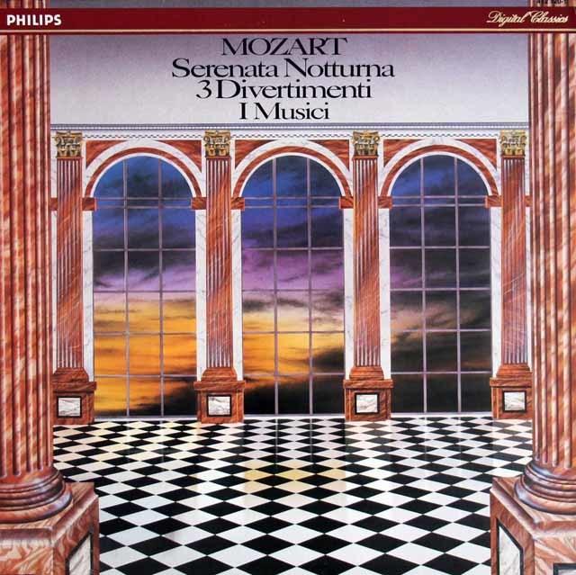 イ・ムジチのモーツァルト/ディヴェルティメントほか 蘭PHILIPS 3205 LP レコード