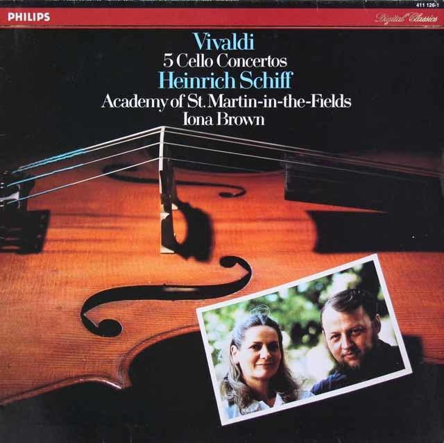 シフ&ブラウンのヴィヴァルディ/5つのチェロ協奏曲 蘭PHILIPS 3205 LP レコード