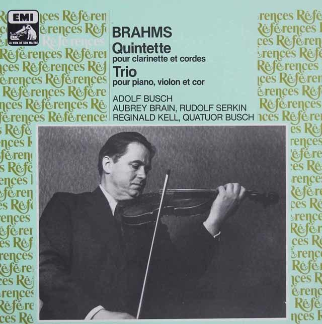 ケル&ブッシュ四重奏団のブラームス/クラリネット五重奏曲ほか 仏EMI(VSM) 3205 LP レコード