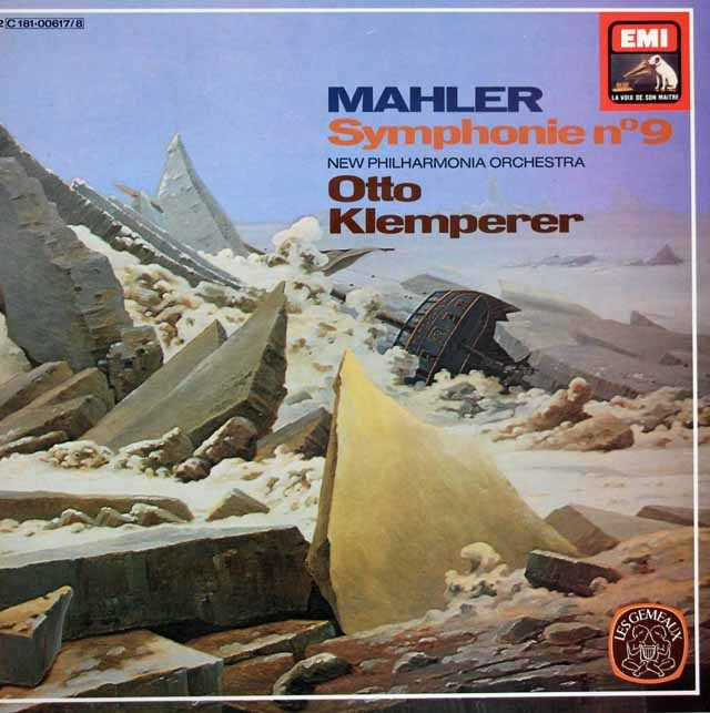 クレンペラーのマーラー/交響曲第9番 仏EMI 3205 LP レコード