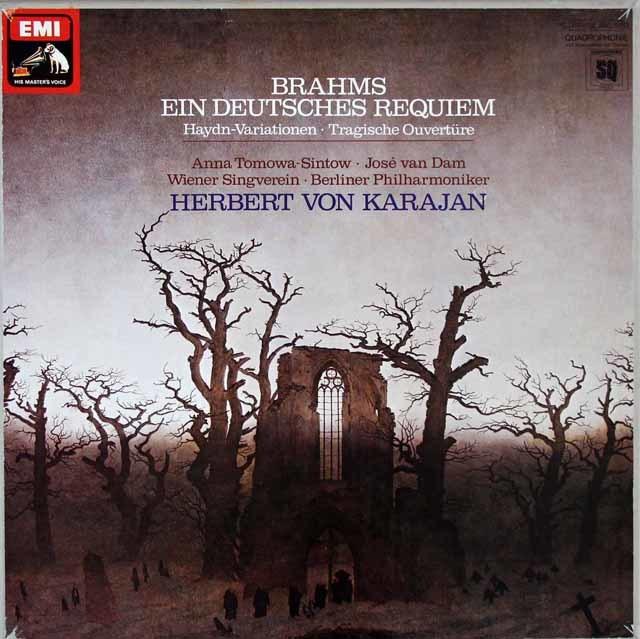 カラヤンのブラームス/ドイツ・レクイエム 独EMI 3205 LP レコード