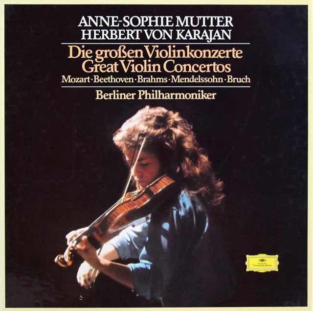 ムター&カラヤンのヴァイオリン協奏曲集 独DGG 3205 LP レコード