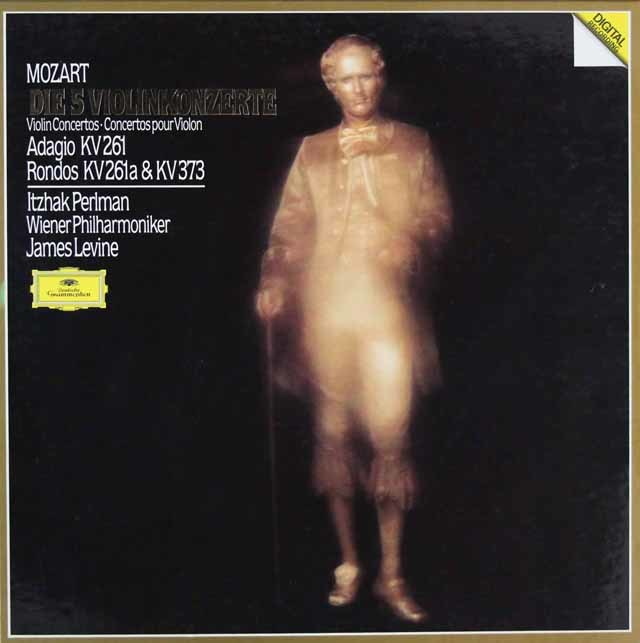 パールマン&レヴァインのモーツァルト/ヴァイオリン協奏曲集 独DGG 3205 LP レコード