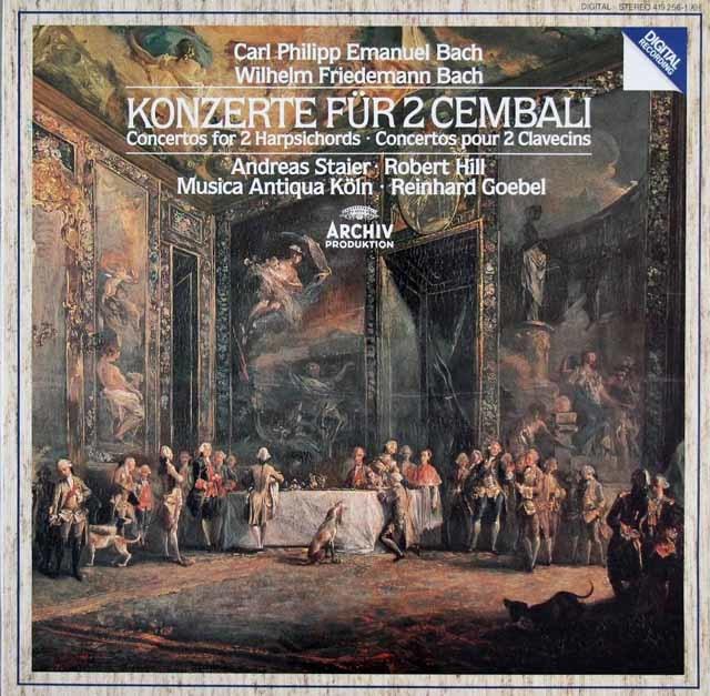 シュタイナー&ムジカ・アンティクヮ・ケルンらのC.P.Eバッハ/2台のチェンバロの為の協奏曲ほか 独ARCHIV 3206 LP レコード