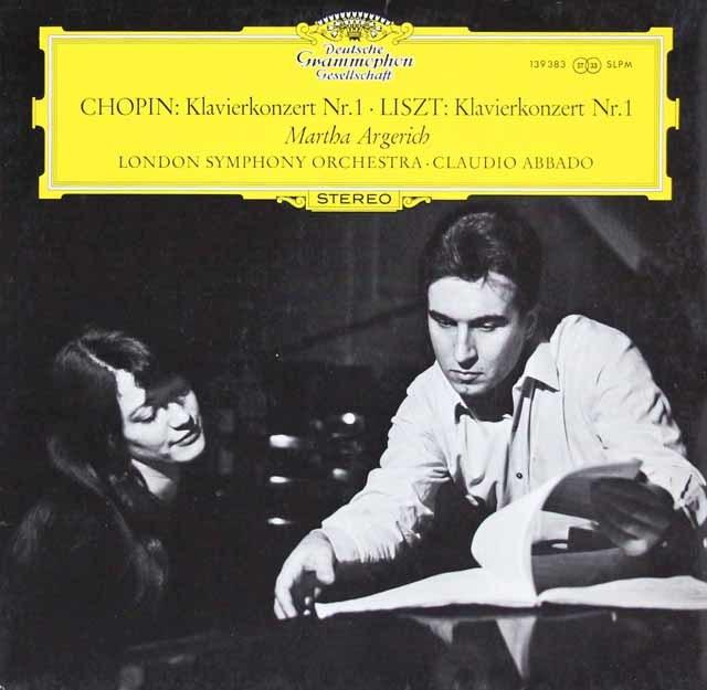 【オリジナル盤】アルゲリッチ&アバドのショパン&リスト/ピアノ協奏曲 独DGG 3206 LP レコード