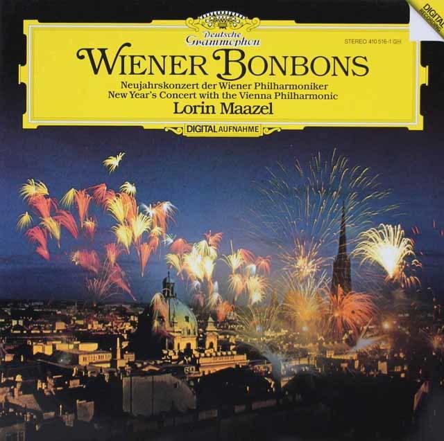マゼールのニュー・イヤー・コンサート1983 「ウィーンのボンボン」ほか 独DGG 3206 LP レコード