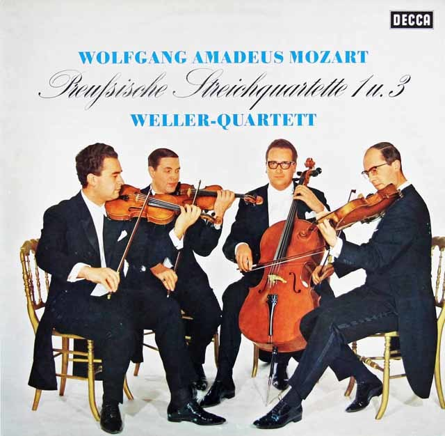 ウェラー四重奏団のモーツァルト/弦楽四重奏曲第21&23番 独DECCA 3206 LP レコード