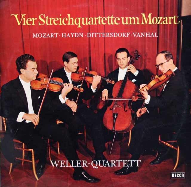 ウェラー四重奏団の「モーツァルト世代の4つの弦楽四重奏曲」 独DECCA 3206 LP レコード