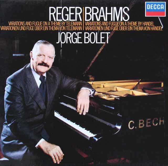 ボレットのレーガー&ブラームス/ピアノ作品集 独DECCA 3206 LP レコード