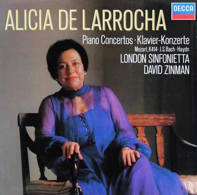 ラローチャ&ジンマンのモーツァルト/ピア協奏曲第12番ほか 独DECCA 3206 LP レコード