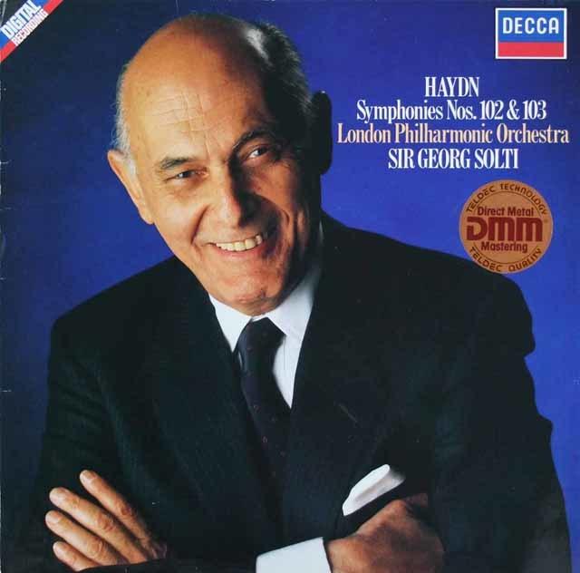 ショルティのハイドン/交響曲第102番&第103番「太鼓連打」 独DECCA 3206 LP レコード