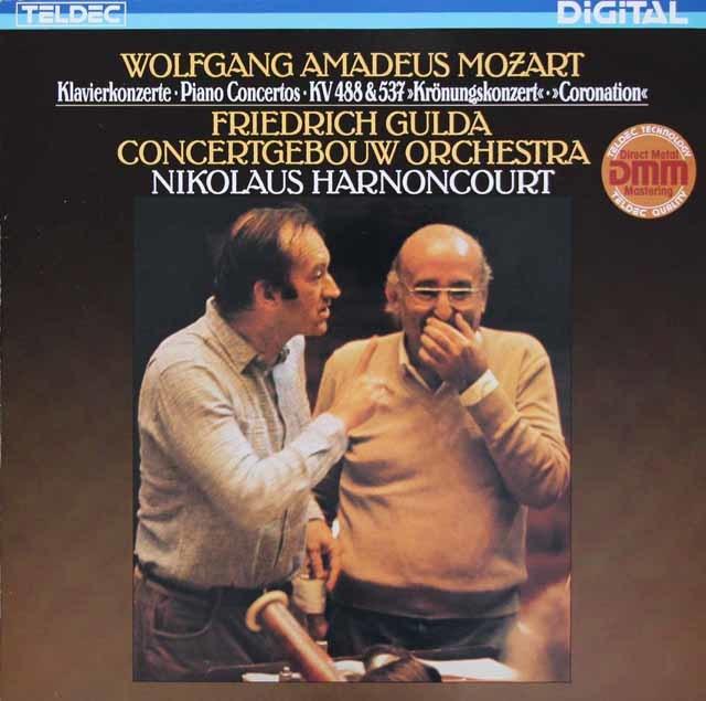 グルダ&アーノンクールのモーツァルト/ピアノ協奏曲第23&26番「戴冠式」 独TELDEC 3206 LP レコード