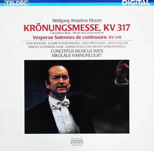アーノンクールのモーツァルト/「戴冠ミサ」ほか 独TELDEC 3206 LP レコード